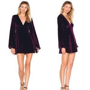 Tularosa Purple Velvet Ryland Dress